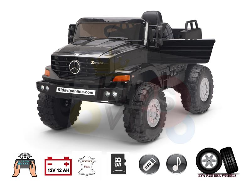 Official Upgraded Mercedes Benz Zetros 12V12amp Kids Ride On Car with Rc