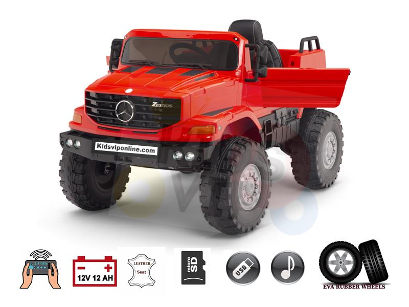 Official Upgraded Mercedes Benz Zetros 12V12amp Kids Ride On Car with Remote Control