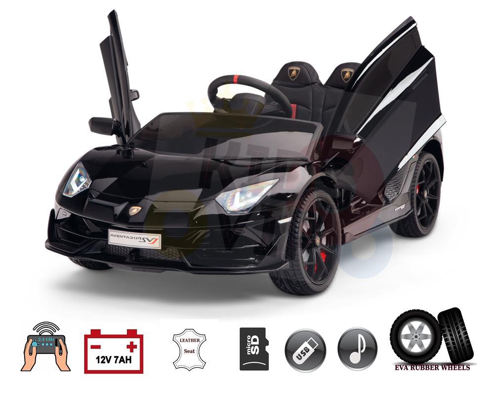 Licensed Sport Lamborghini SVJ 12V Ride On Car for Kids with Remote Control