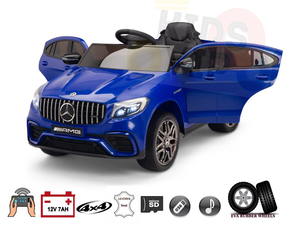 4WD Mercedes Benz GLC63 AMG 12V Kids Ride On Car with RC&Rubber Wheels