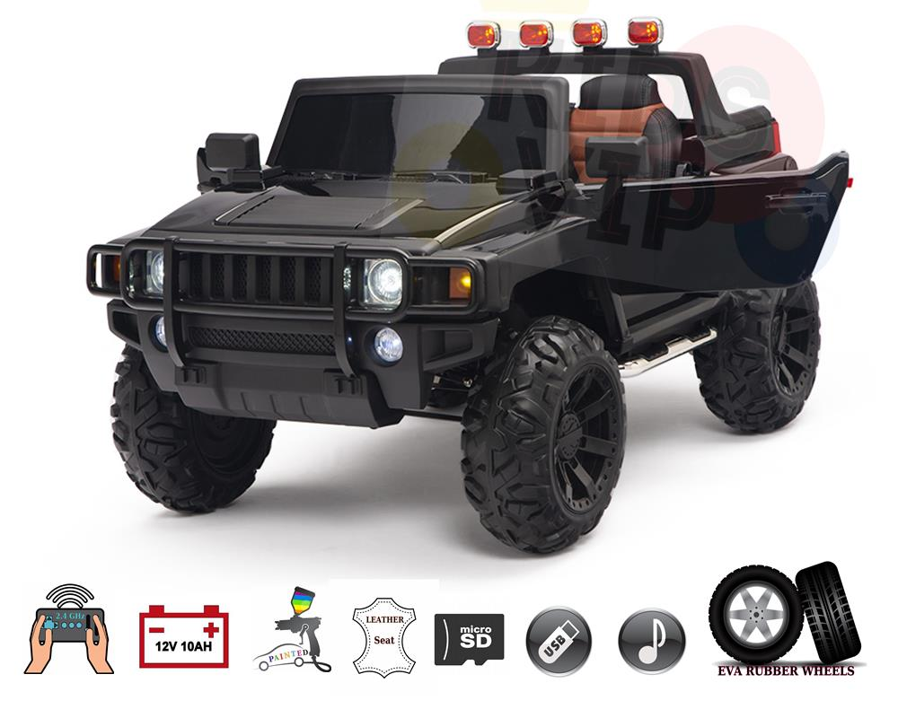 Titan H 4×4 Edition 2 Seater 12V Kids Ride on Truck with Remote Control & Rubber Wheels
