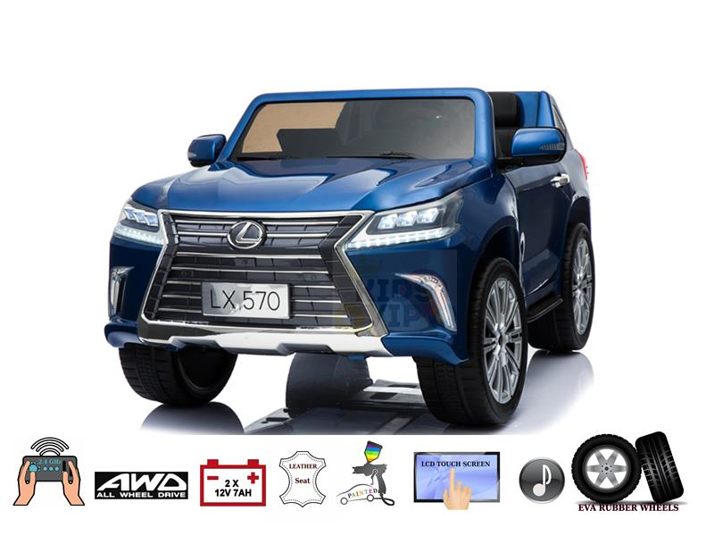 Top of Line 2 Seater Official 4X4 Lexus LX570 2X12V Kids Ride On Car- Eva, Leather, MP4 Multimedia