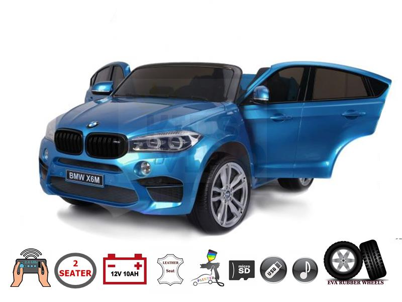 Blue Xl 2 Seater Limited Licensed Bmw X6 12v Kids Ride On Car Kids Vip