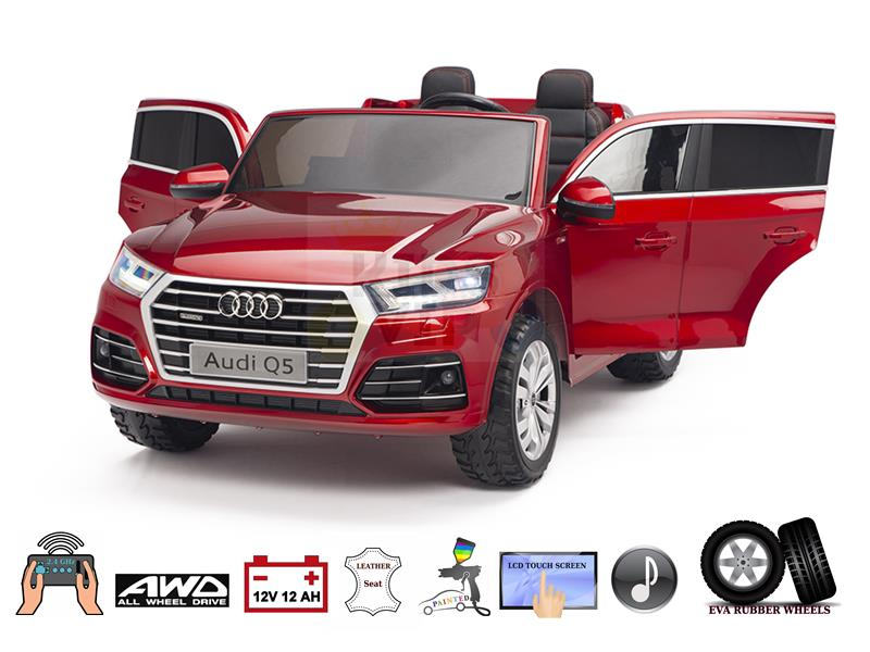 24V Complete MP4 Edition 2 Seater Licensed Audi Q5 SUV Eva Ride on Kids Car with RC