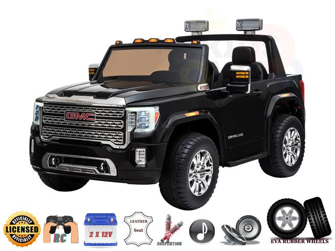 2 Seats Officially Licensed 4WD GMC Sierra 2x12V Kids Ride On Car with RC