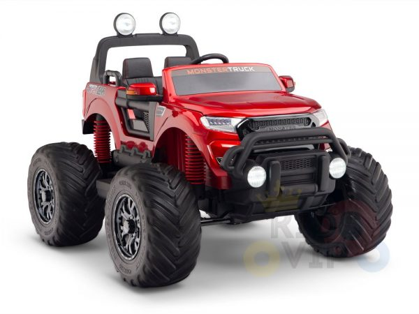 kidsvip 4x4 monster truck kids and toddlers 12v ride on truck car big rubber wheels 1