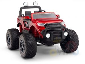 kidsvip 4x4 monster truck kids and toddlers 12v ride on truck car big rubber wheels 25