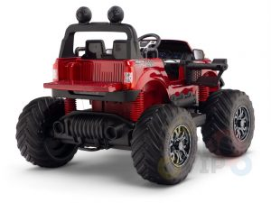 kidsvip 4x4 monster truck kids and toddlers 12v ride on truck car big rubber wheels 8