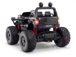 kidsvip 4x4 monster truck kids and toddlers 12v ride on truck car big rubber wheels black 13