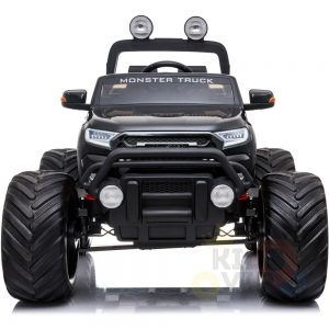 kidsvip 4x4 monster truck kids and toddlers 12v ride on truck car big rubber wheels black 24