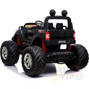 kidsvip 4x4 monster truck kids and toddlers 12v ride on truck car big rubber wheels black 28