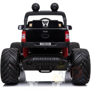 kidsvip 4x4 monster truck kids and toddlers 12v ride on truck car big rubber wheels black 29