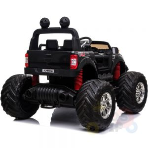 kidsvip 4x4 monster truck kids and toddlers 12v ride on truck car big rubber wheels black 30