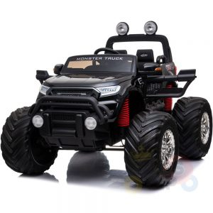 kidsvip 4x4 monster truck kids and toddlers 12v ride on truck car big rubber wheels black 32