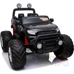 kidsvip 4x4 monster truck kids and toddlers 12v ride on truck car big rubber wheels black 34