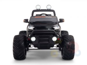 kidsvip 4x4 monster truck kids and toddlers 12v ride on truck car big rubber wheels black 37