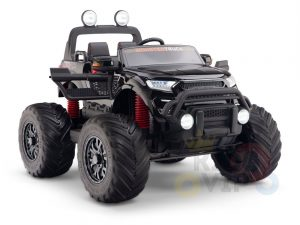 kidsvip 4x4 monster truck kids and toddlers 12v ride on truck car big rubber wheels black 39