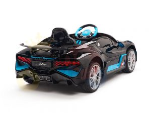 kidsvip buggati divo kids and toddlers ride on car sport 12v leather seat rubber wheels rc black 1