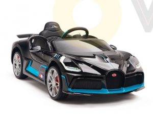 kidsvip buggati divo kids and toddlers ride on car sport 12v leather seat rubber wheels rc black 18