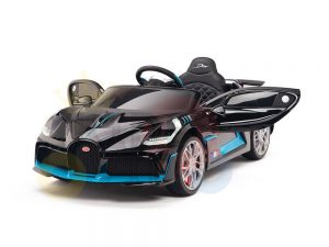 kidsvip buggati divo kids and toddlers ride on car sport 12v leather seat rubber wheels rc black 21
