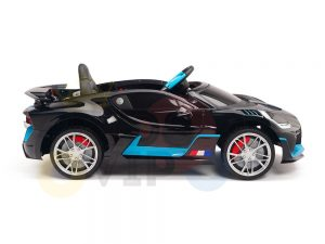 kidsvip buggati divo kids and toddlers ride on car sport 12v leather seat rubber wheels rc black 24