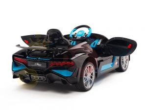 kidsvip buggati divo kids and toddlers ride on car sport 12v leather seat rubber wheels rc black 27