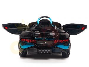 kidsvip buggati divo kids and toddlers ride on car sport 12v leather seat rubber wheels rc black 7