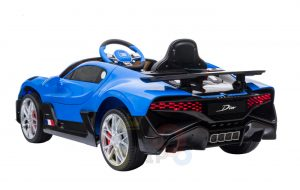 kidsvip buggati divo kids and toddlers ride on car sport 12v leather seat rubber wheels rc blue 1