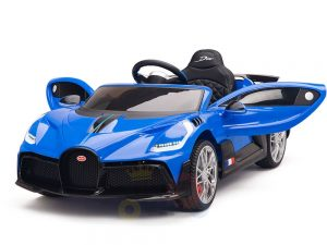 kidsvip buggati divo kids and toddlers ride on car sport 12v leather seat rubber wheels rc blue 11
