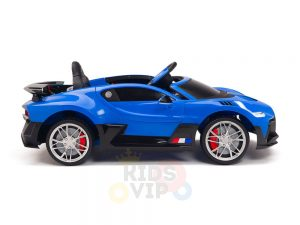kidsvip buggati divo kids and toddlers ride on car sport 12v leather seat rubber wheels rc blue 12
