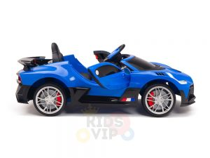 kidsvip buggati divo kids and toddlers ride on car sport 12v leather seat rubber wheels rc blue 13