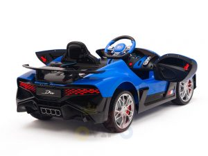 kidsvip buggati divo kids and toddlers ride on car sport 12v leather seat rubber wheels rc blue 14