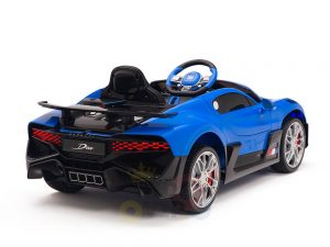 kidsvip buggati divo kids and toddlers ride on car sport 12v leather seat rubber wheels rc blue 15