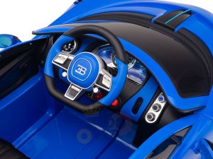 kidsvip buggati divo kids and toddlers ride on car sport 12v leather seat rubber wheels rc blue 16