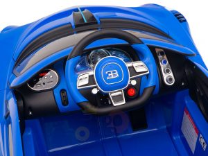 kidsvip buggati divo kids and toddlers ride on car sport 12v leather seat rubber wheels rc blue 17