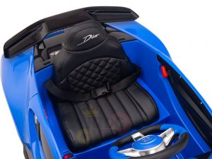 kidsvip buggati divo kids and toddlers ride on car sport 12v leather seat rubber wheels rc blue 18