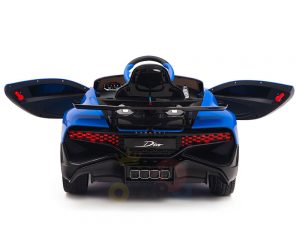 kidsvip buggati divo kids and toddlers ride on car sport 12v leather seat rubber wheels rc blue 20