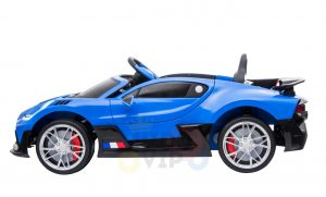 kidsvip buggati divo kids and toddlers ride on car sport 12v leather seat rubber wheels rc blue 3