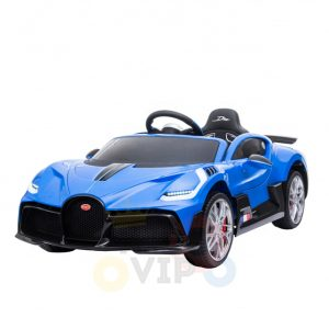 kidsvip buggati divo kids and toddlers ride on car sport 12v leather seat rubber wheels rc blue 5