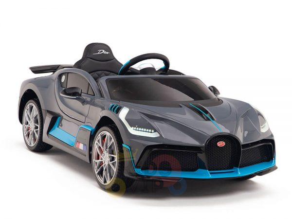 kidsvip buggati divo kids and toddlers ride on car sport 12v leather seat rubber wheels rc grey 1