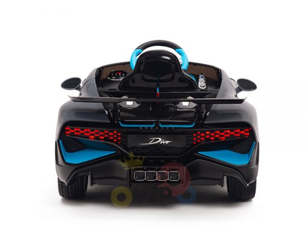 kidsvip buggati divo kids and toddlers ride on car sport 12v leather seat rubber wheels rc grey 13