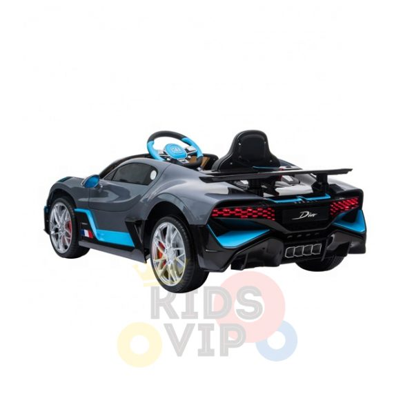 kidsvip buggati divo kids and toddlers ride on car sport 12v leather seat rubber wheels rc grey 20