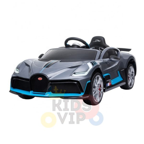 kidsvip buggati divo kids and toddlers ride on car sport 12v leather seat rubber wheels rc grey 21 1