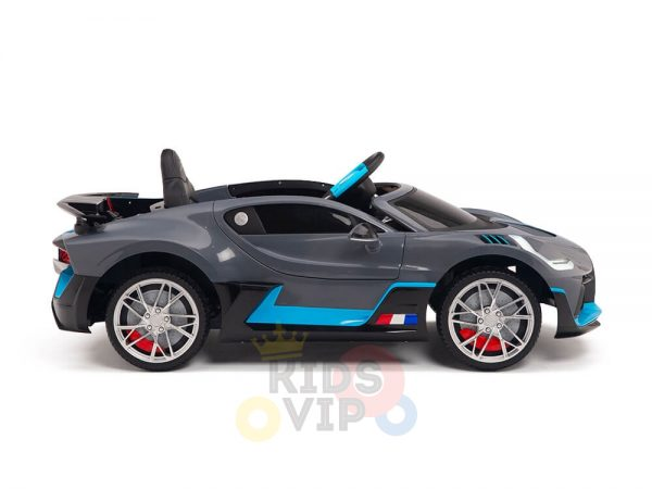 kidsvip buggati divo kids and toddlers ride on car sport 12v leather seat rubber wheels rc grey 5