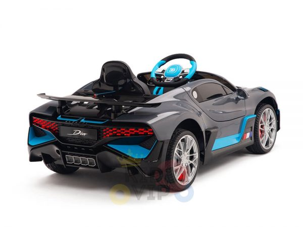 kidsvip buggati divo kids and toddlers ride on car sport 12v leather seat rubber wheels rc grey 9