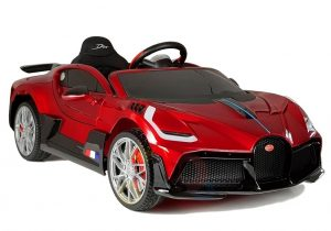 kidsvip buggati divo kids and toddlers ride on car sport 12v leather seat rubber wheels rc red 15