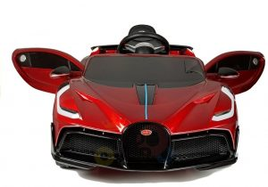 kidsvip buggati divo kids and toddlers ride on car sport 12v leather seat rubber wheels rc red 16