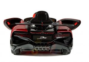 kidsvip buggati divo kids and toddlers ride on car sport 12v leather seat rubber wheels rc red 18