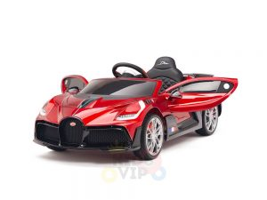 kidsvip buggati divo kids and toddlers ride on car sport 12v leather seat rubber wheels rc red 21