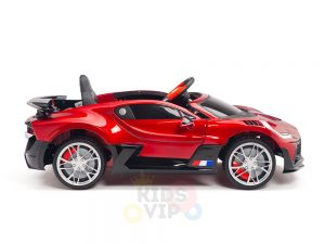 kidsvip buggati divo kids and toddlers ride on car sport 12v leather seat rubber wheels rc red 22